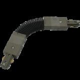 Knightsbridge TRKFCS 230V Single Circuit Track  Flexible Connector Satin Nickel