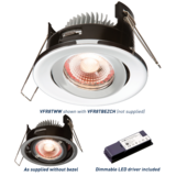 Knightsbridge VFR8TWW Proknight LED Tilt 8W IP20  Fire Rated 2700K