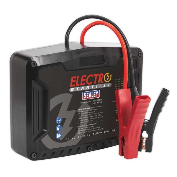 Sealey E/START1224 ElectroStart Batteryless Power Start 1000/1600A 12/24V Thumbnail 1