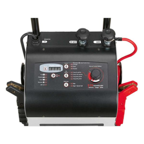 Sealey ECS300 Electronic Charger Starter 45/300A 12/24V Thumbnail 2
