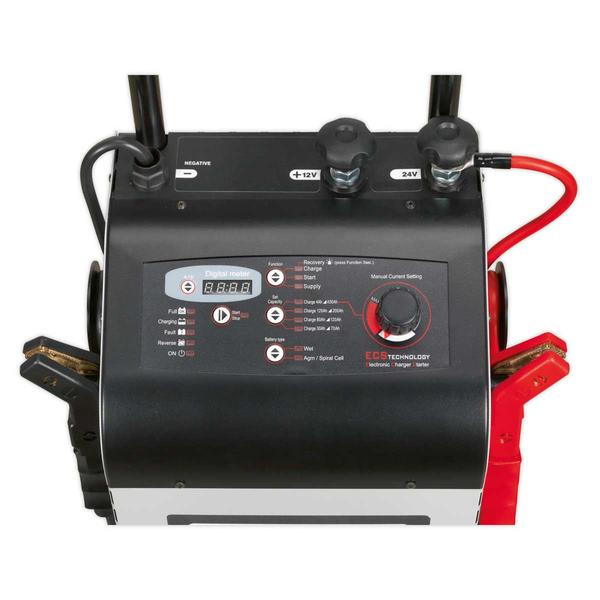 Sealey ECS350 Electronic Charger Starter 60/350A 12/24V Thumbnail 3