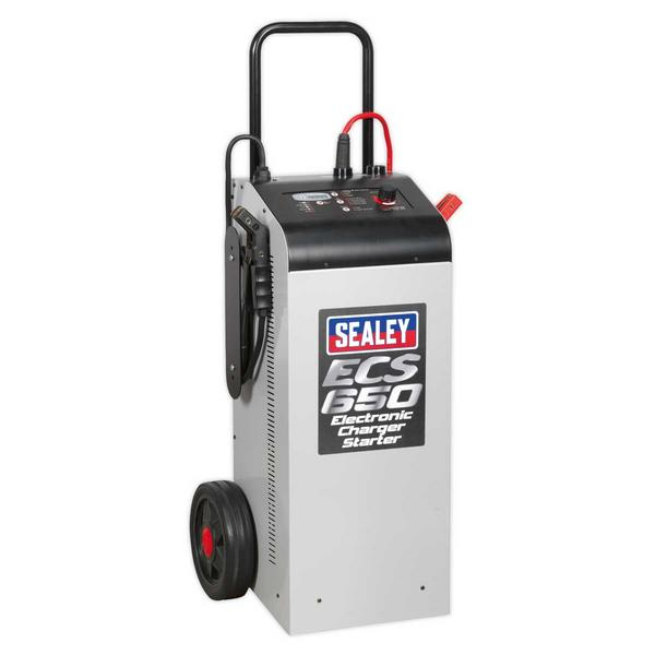 Sealey ECS650 Electronic Charger Starter 100/650A 12/24V Thumbnail 1