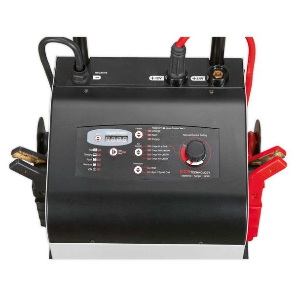 Sealey ECS650 Electronic Charger Starter 100/650A 12/24V Thumbnail 2