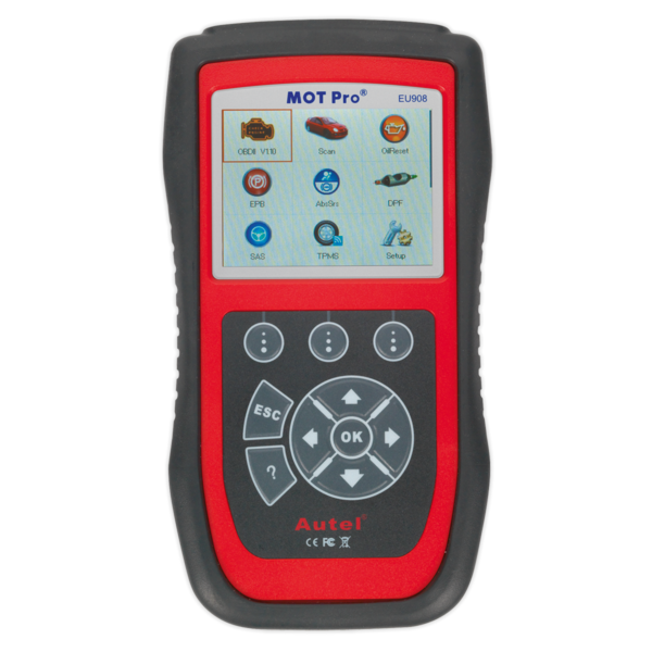 Sealey EU908 Autel MOT Pro® - Multi-Manufacturer Diagnostic Tool Thumbnail 1