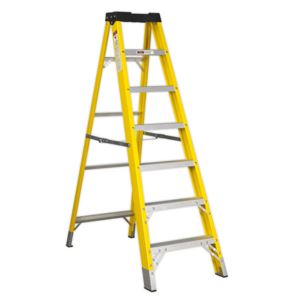 Sealey FSL7 Fibreglass Step Ladder 6-Tread EN 131 Thumbnail 1