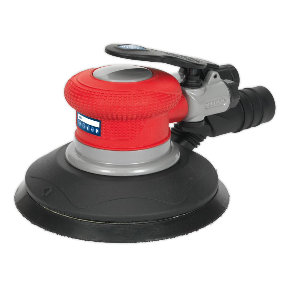 Sealey GSA05 Air Palm Random Orbital Sander Ø150mm Dust-Free