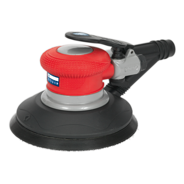 Sealey GSA06 Air Palm Random Orbital Sander Ø150mm Dust-Free Self-Contained Thumbnail 2