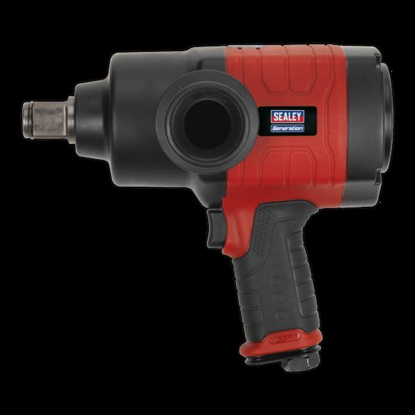 "Sealey GSA6005 Air Impact Wrench 1"" Sq Drive Twin Hammer Thumbnail 2"