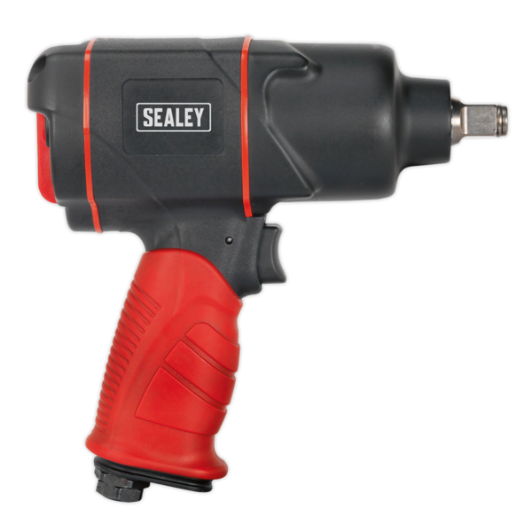 "Sealey GSA6006 Composite Air Impact Wrench 1/2"" Sq Drive Twin Hammer Thumbnail 9"