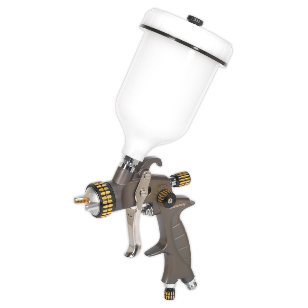 Sealey HVLP01 HVLP Gravity Feed Spray Gun 1.4mm Set-Up