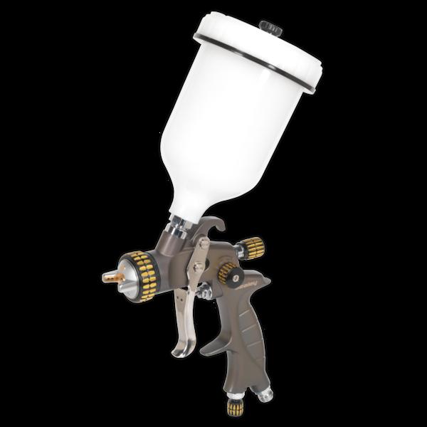 Sealey HVLP01 HVLP Gravity Feed Spray Gun 1.4mm Set-Up Thumbnail 1