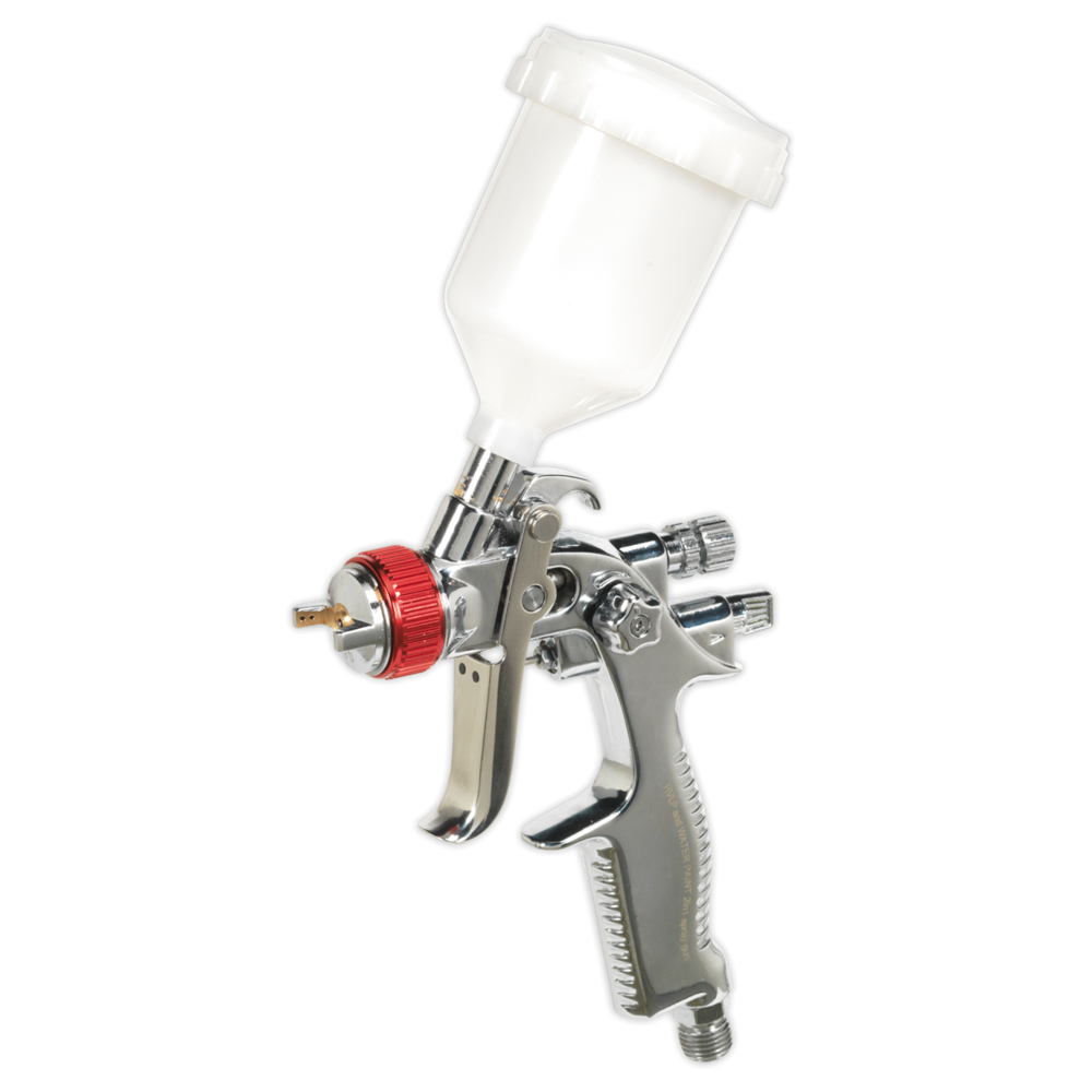 Sealey HVLP736 HVLP Gravity Feed Touch-Up Spray Gun 0.8mm Set-Up