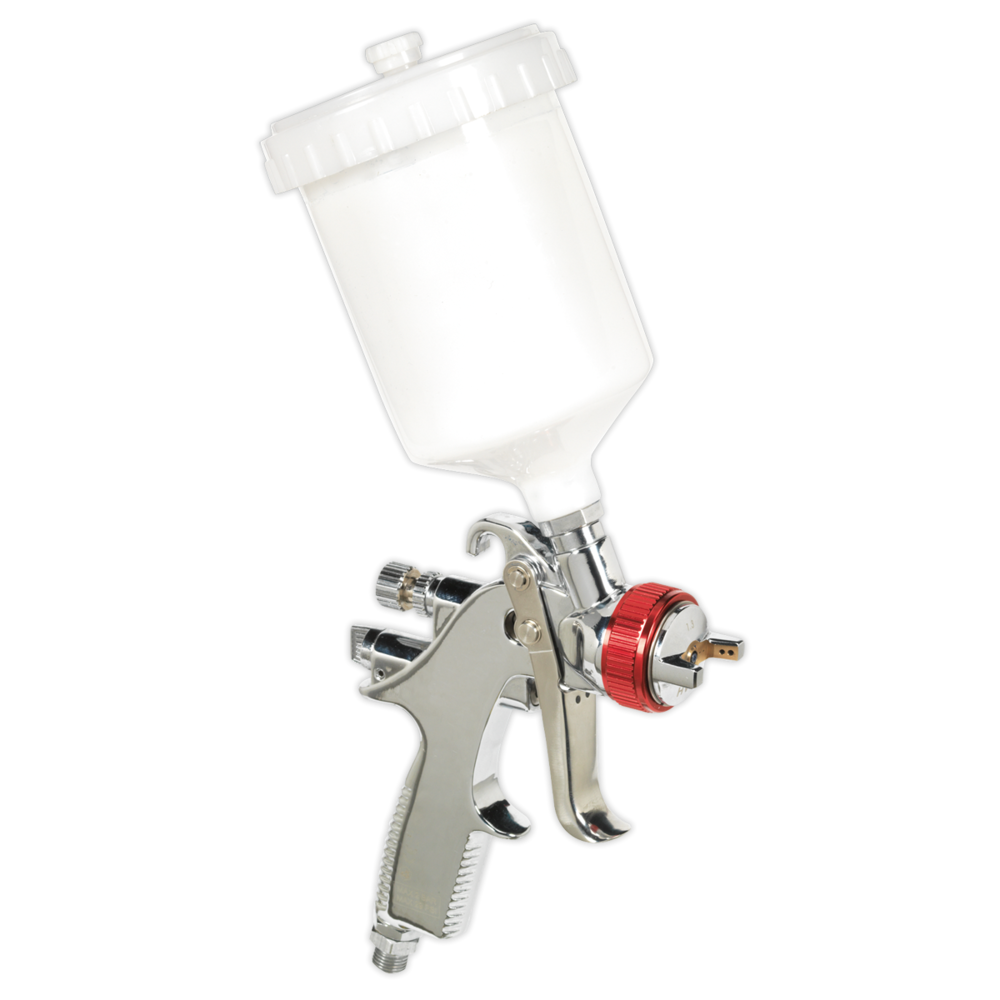 Sealey HVLP746 HVLP Gravity Feed Spray Gun 1.3mm Set-Up