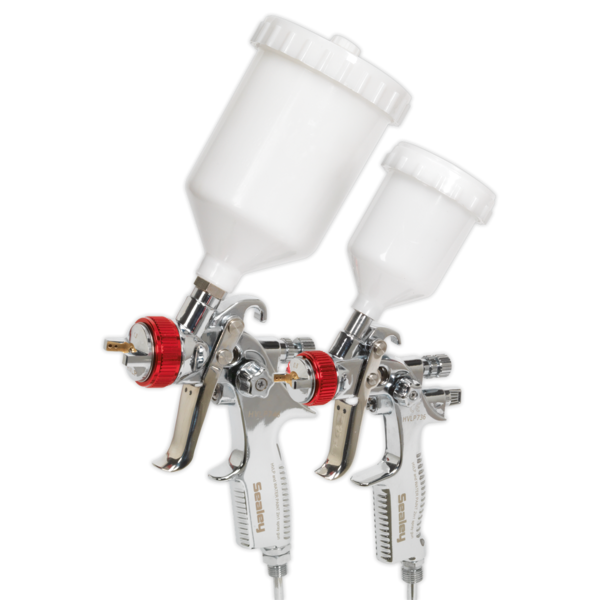 Sealey HVLP774 HVLP Gravity Feed Top Coat/Touch-Up Spray Gun Set Thumbnail 3
