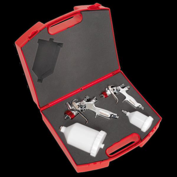 Sealey HVLP774 HVLP Gravity Feed Top Coat/Touch-Up Spray Gun Set Thumbnail 2