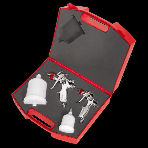 Sealey HVLP774 HVLP Gravity Feed Top Coat/Touch-Up Spray Gun Set Thumbnail 5