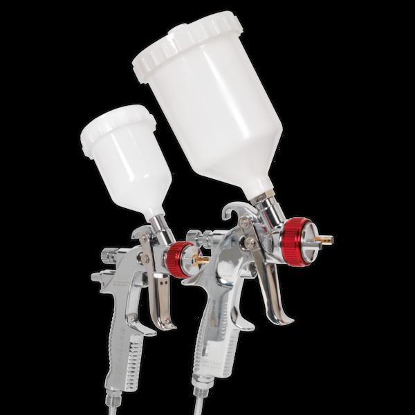 Sealey HVLP774 HVLP Gravity Feed Top Coat/Touch-Up Spray Gun Set Thumbnail 4