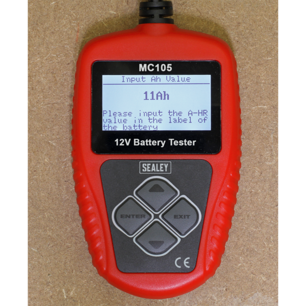 Sealey MC105 Motorcycle Digital Battery Tester 12V Thumbnail 7