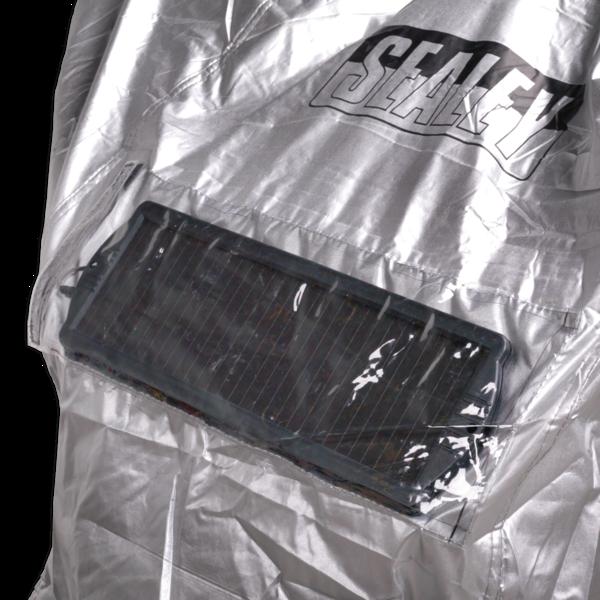 Sealey MCBM Motorcycle Coverall - Medium with Solar Panel Pocket Thumbnail 3