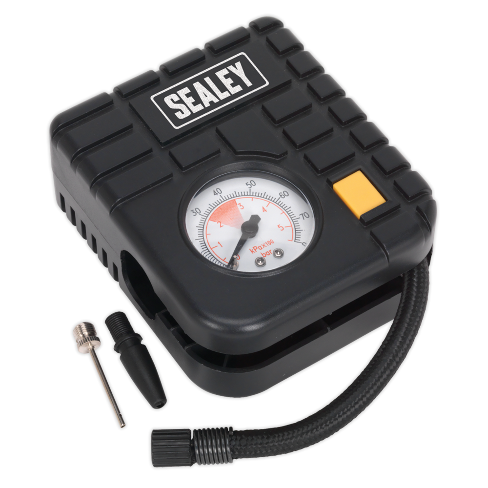 Sealey MS163 Micro Air Compressor with Worklight 12V