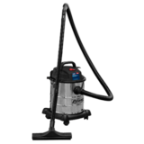Sealey PC195SD Vacuum Cleaner Wet & Dry 20ltr 1200W/230V Stainless Drum