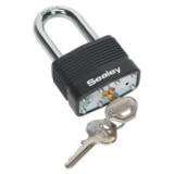 Sealey PL302L Steel Body Padlock Long Shackle 50mm