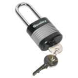Sealey PL401L Zinc Coated Steel Body Padlock Long Shackle 44mm