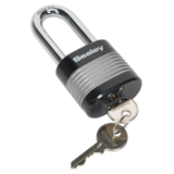 Sealey PL402L Zinc Coated Steel Body Padlock Long Shackle 50mm