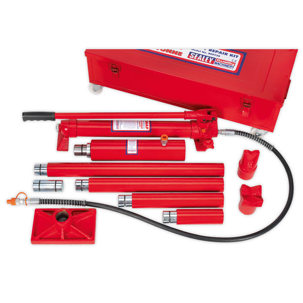 Sealey RE9720 Hydraulic Body Repair Kit 20 Tonne Snap Type in Metal Case Thumbnail 1