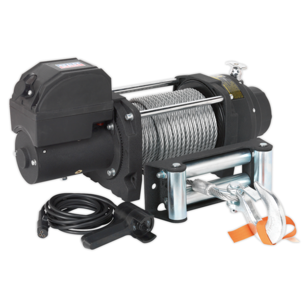 Sealey RW5675 Recovery Winch 5675kg (12500lb) Line Pull 12V Industrial Thumbnail 1