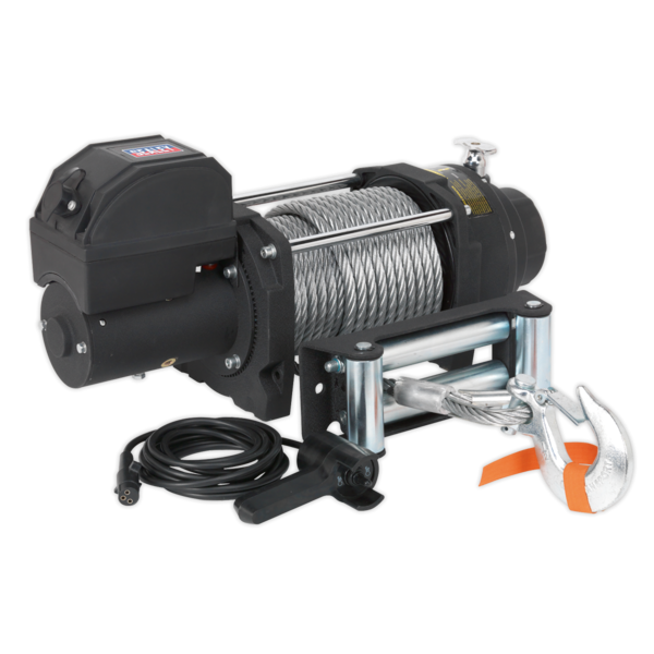 Sealey RW8180 Recovery Winch 8180kg (18000lb) Line Pull 12V Industrial Thumbnail 1