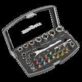"""Sealey S01036 Socket & Bit Set 31pc 1/4"""" Sq Drive"""