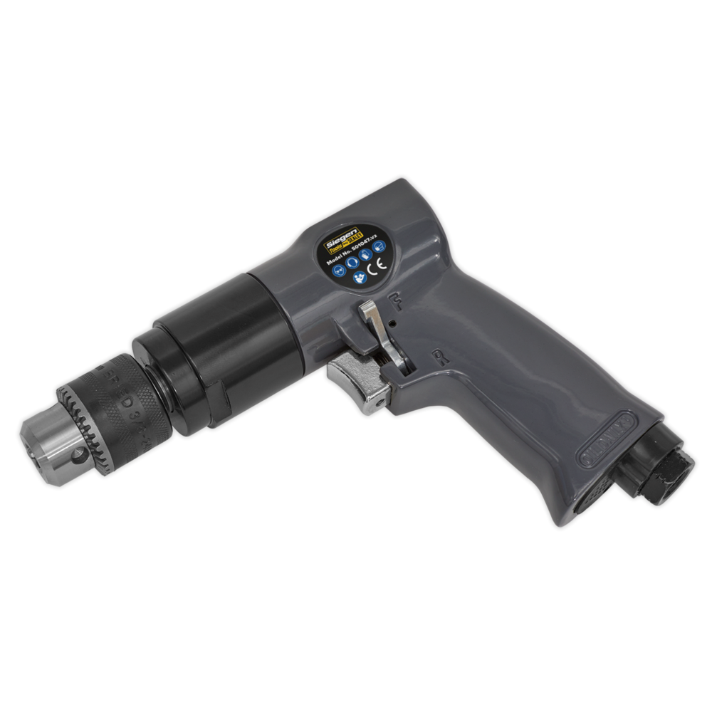 Sealey S01047 Air Drill Ø10mm 1800rpm Reversible