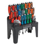 Sealey Siegen S01106 Hammer-Thru Screwdriver, Hex Key & Bit Set (44 Pc)