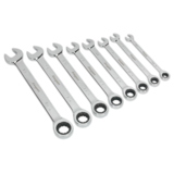 Sealey S0984 Combination Ratchet Spanner Set 8pc Imperial