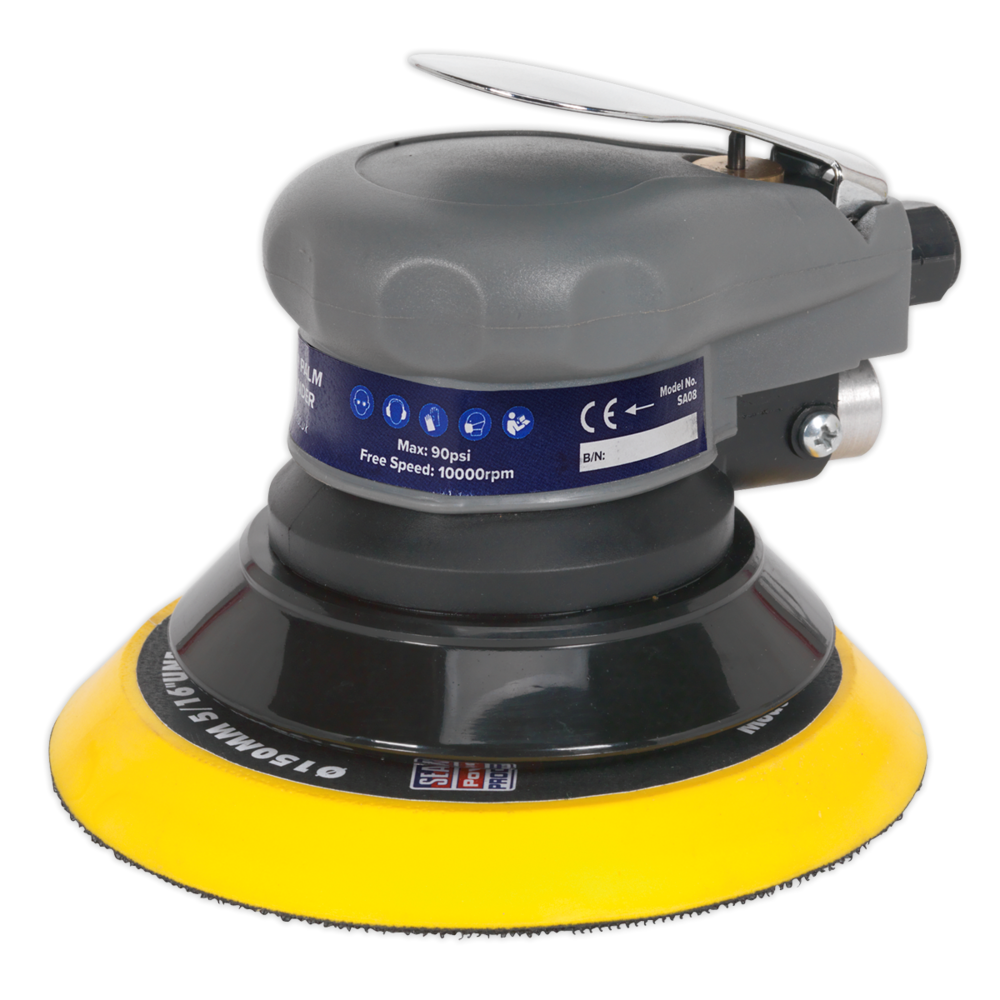 Sealey SA08 Air Palm Orbital Sander Ø150mm