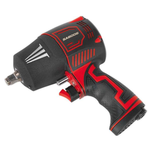 "Sealey SA6006 Composite Air Impact Wrench 1/2"" Square Drive Twin Hammer Thumbnail 1"