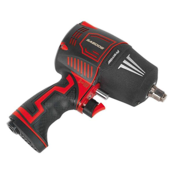 "Sealey SA6006 Composite Air Impact Wrench 1/2"" Square Drive Twin Hammer Thumbnail 2"