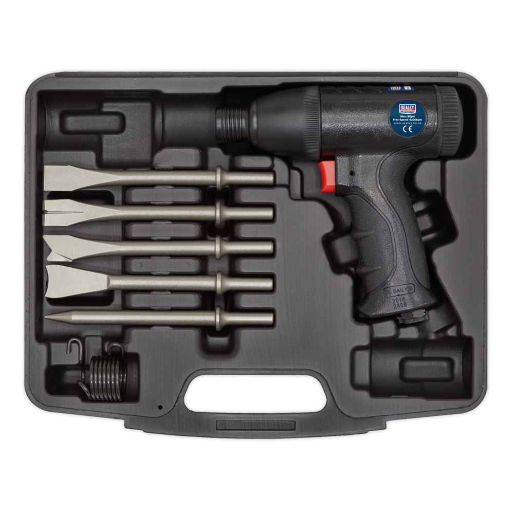 Sealey SA613 Air Hammer Kit Composite Premier - Medium Stroke