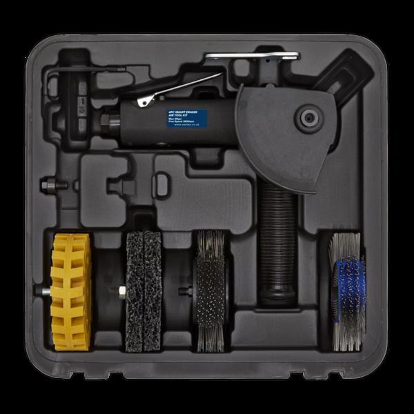 Sealey SA695 Smart Eraser Air Tool Kit 4pc Thumbnail 2