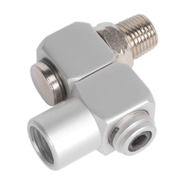 "Sealey SA902 Z-Swivel Air Hose Connector 1/4"" BSP Thumbnail 1"