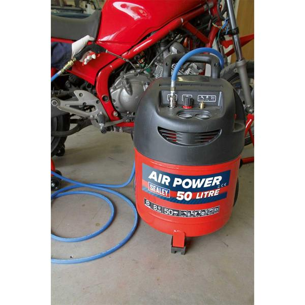Sealey SAC03250 Compressor 50ltr Belt Drive 1.5hp Oil Free Thumbnail 5