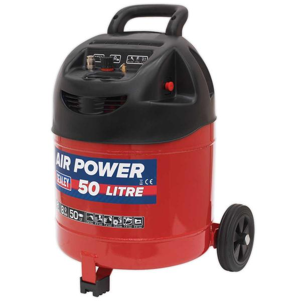 Sealey SAC03250 Compressor 50ltr Belt Drive 1.5hp Oil Free Thumbnail 1