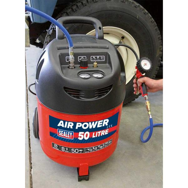Sealey SAC03250 Compressor 50ltr Belt Drive 1.5hp Oil Free Thumbnail 3