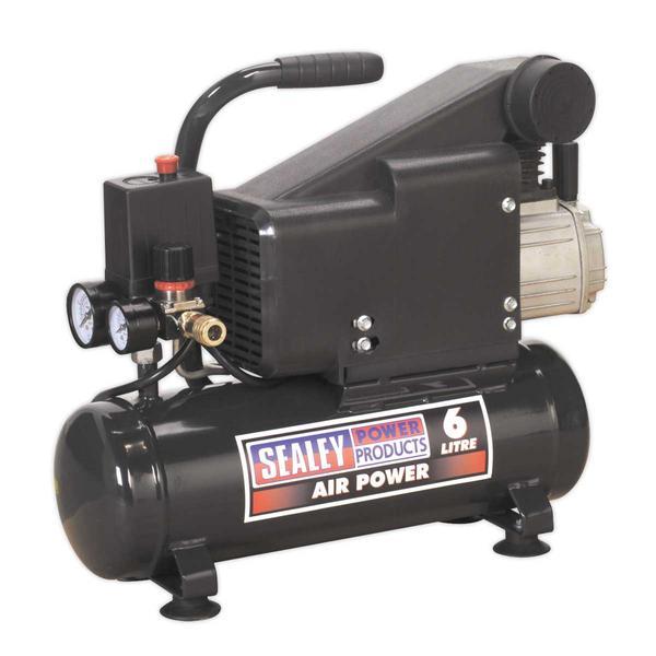 Sealey SAC0610EKIT Air Nail/Staple Gun Kit with Compressor Hose & Nailer/Stapler Thumbnail 3