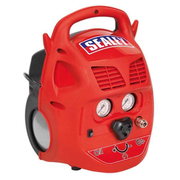 Sealey SAC106B Compressor 6ltr Belt Drive 1.5hp Oil Free Thumbnail 2