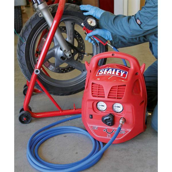 Sealey SAC106B Compressor 6ltr Belt Drive 1.5hp Oil Free Thumbnail 3