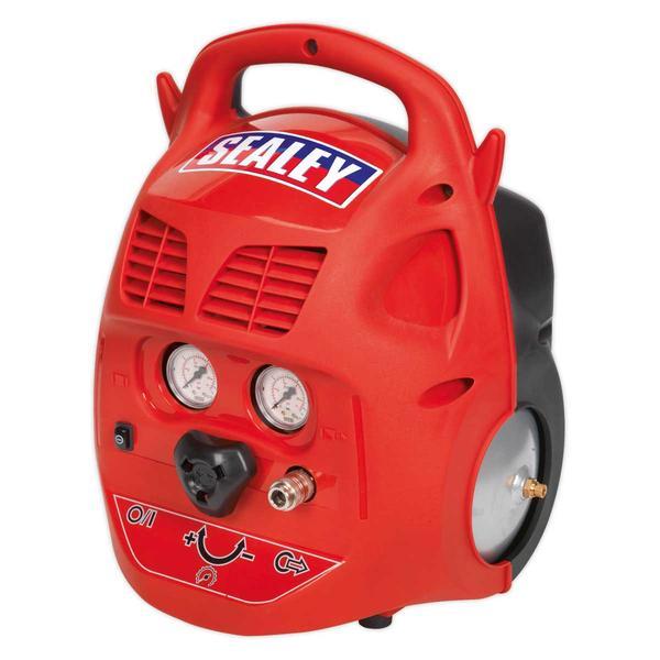 Sealey SAC106B Compressor 6ltr Belt Drive 1.5hp Oil Free Thumbnail 1