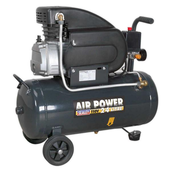 Sealey SAC2420E110V Compressor 24L Direct Drive 2hp 110V Thumbnail 2