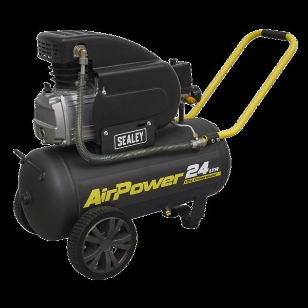 Sealey SAC2420E110V Compressor 24L Direct Drive 2hp 110V Thumbnail 2